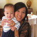 8ヶ月の子供とツーショット|不妊治療HP